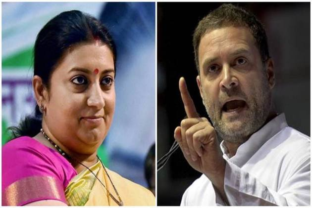 Image result for Rahul Gandhi not eligible for any Electoral post: Smriti Irani