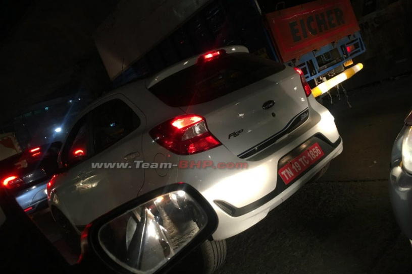 Ford Figo Facelift Blu Spied, Likely To Be A CNG Variant