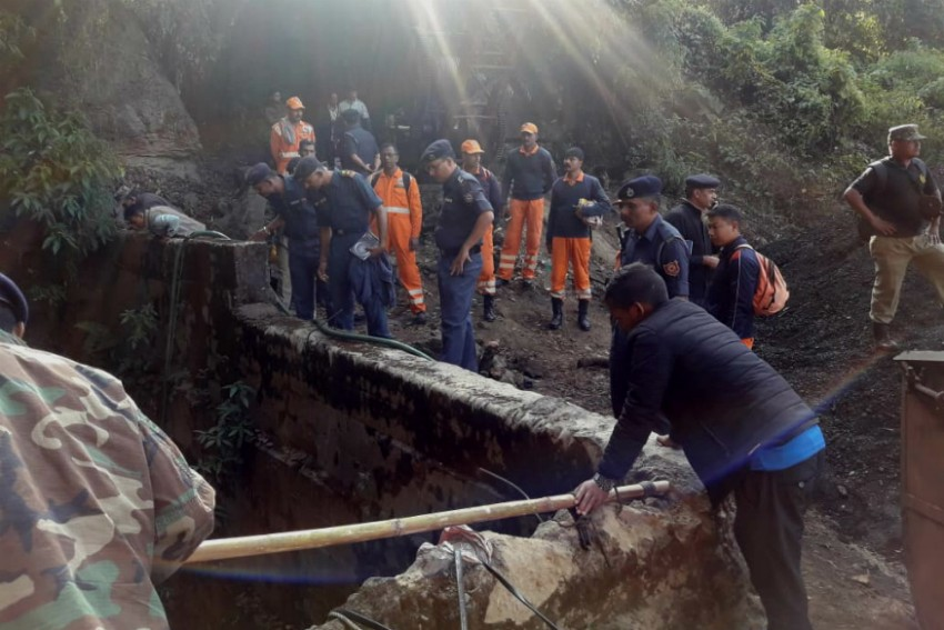 Nine Days On, Miners Still Trapped Inside Maghalaya Cave
