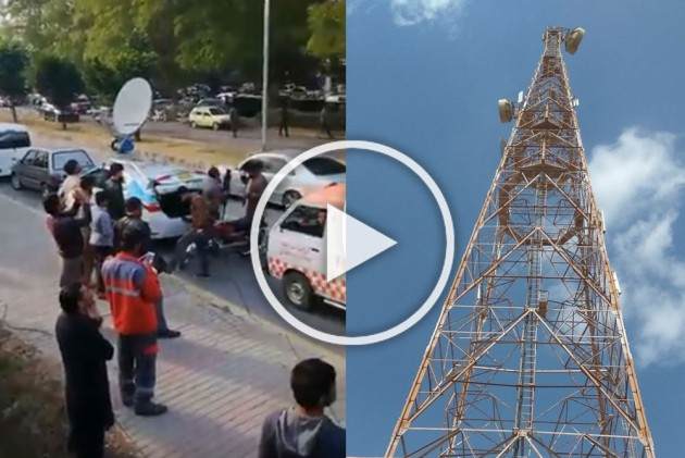 Watch: Man Climbs Mobile Tower In Pakistan, Threatens To Kill Self If Not Made PM