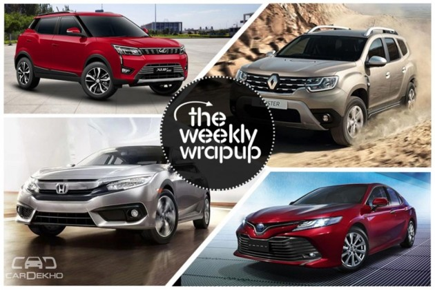 Weekly Wrap-Up: Mahindra XUV300 Unveiled, Maruti Hybrid Car Coming In 2020, Tata Harrier Makes Public Debut & More