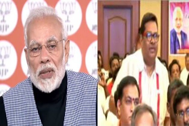 Rahul Gandhi Takes Dig AT PM Modi For Ignoring BJP Worker's Question On Middle Class