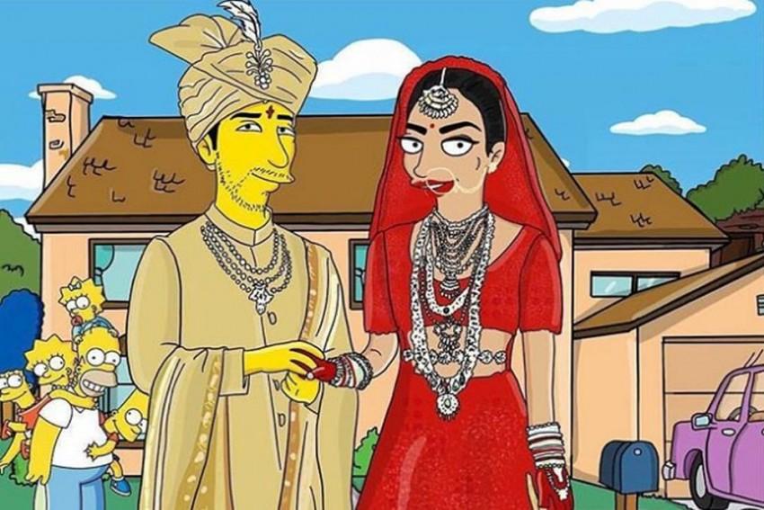 Priyanka Chopra, Nick Jonas Get Their Simpsons Caricatures As Wedding Gift