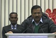 Watch: BJP Workers Heckle Arvind Kejriwal By Coughing During His Speech, Gadkari Intervenes