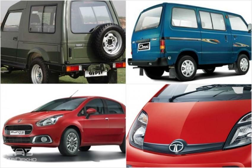 Cars That Might Get Discontinued in 2019 - Maruti Omni, Gypsy & Tata Nano