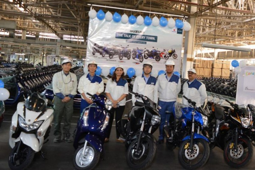 Suzuki Motorcycle India Crosses Four Million Production Mark
