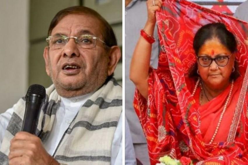Didn't Mean To Hurt: Sharad Yadav Expresses Regret For Body Shaming Vasundhara Raje