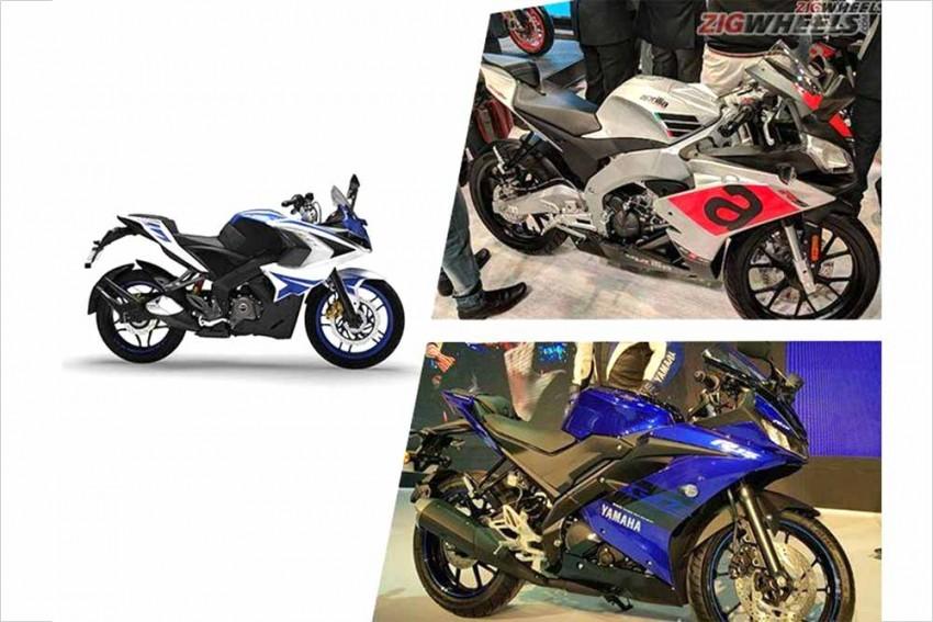 Yamaha R15 V3.0 vs Aprilia RS 150 vs Bajaj Pulsar RS200: Spec Comparison