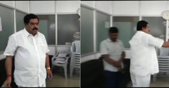 Congress Leader Sprinkles Petrol Inside Municipality Office In Bengaluru,Threatens To  Set It On Fire