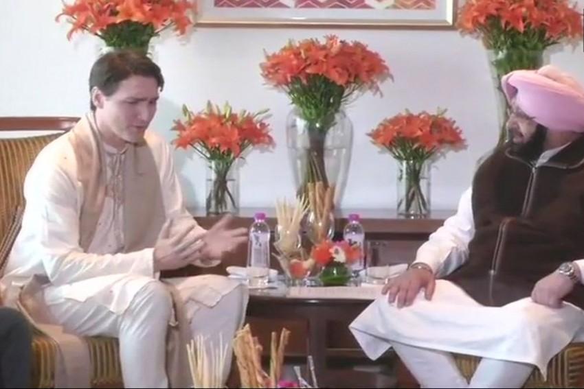 Punjab CM Amarinder Singh Meets Canadian PM Justin Trudeau, Raises Khalistan Issue