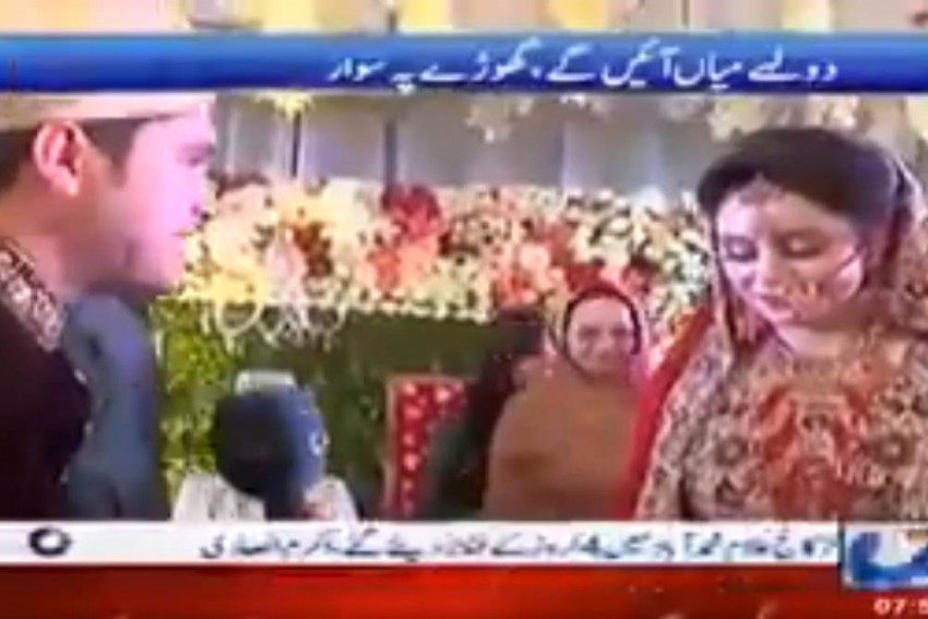 Dressed In Sherwani, Pak Journalist Covers His Own Wedding, Interviews Wife, Father-In-Law