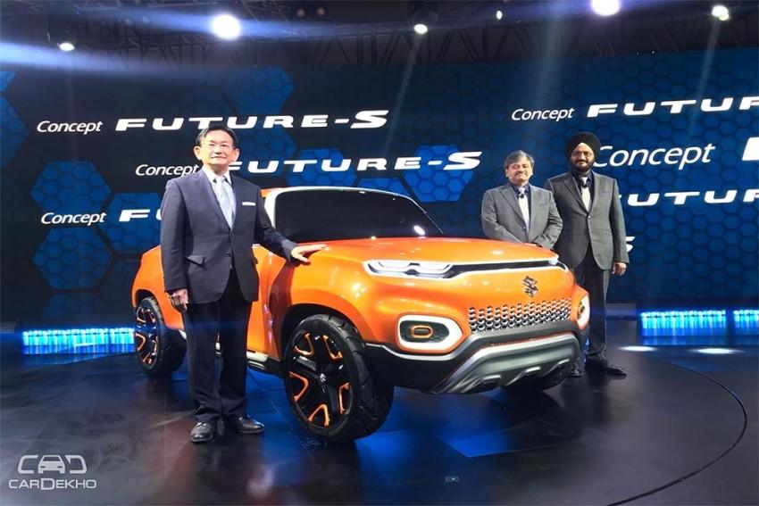 Maruti's Small SUV Future-S Concept SUV Showcased At Auto Expo 2018