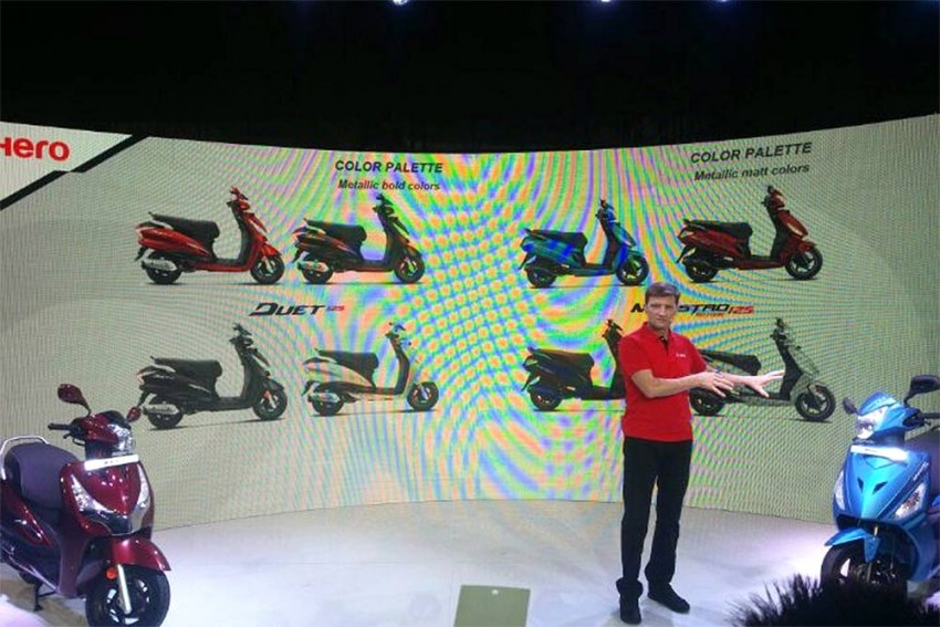 Hero Duet 125 And Maestro Edge 125 Unveiled At Auto Expo 2018