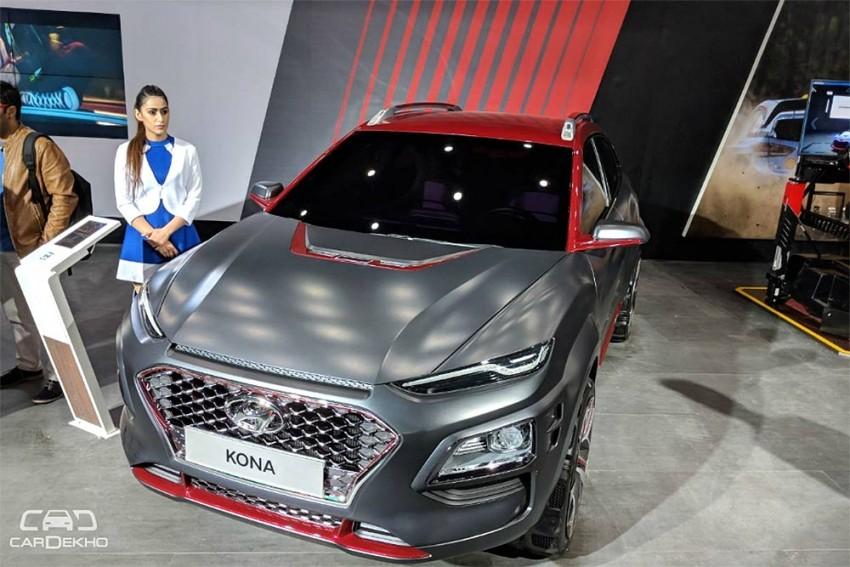 Hyundai Kona Iron Man EV Revealed At Auto Expo 2018