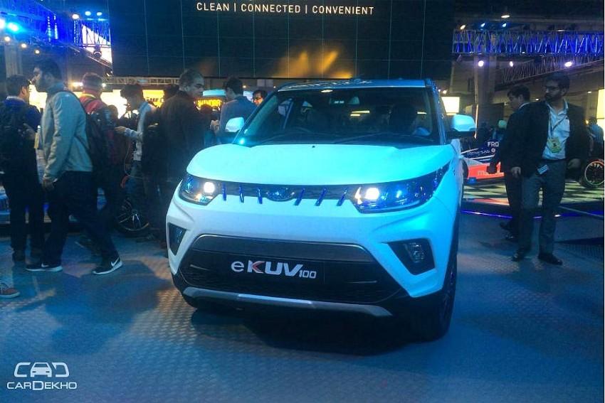 Mahindra e-KUV100 Revealed At Auto Expo 2018