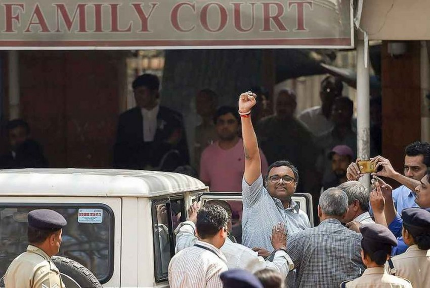 As Court Extends His Custody, Karti Chidambaram Smiles His Way Into CBI Vehicle, Tells Reporters 'See You On Monday'