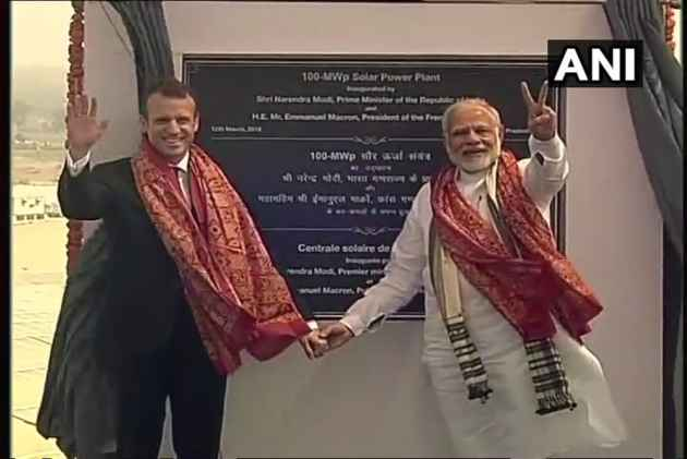 PM Modi, French President Macron Inaugurate UP's Biggest Solar Power Plant In Mirzapur District