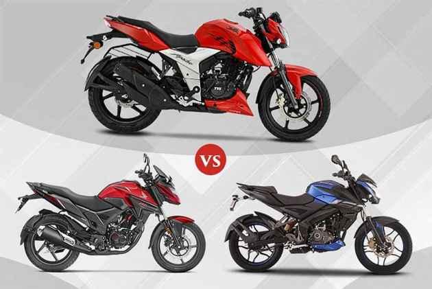 TVS Apache RTR 160 4V vs Honda X-Blade vs Bajaj Pulsar NS