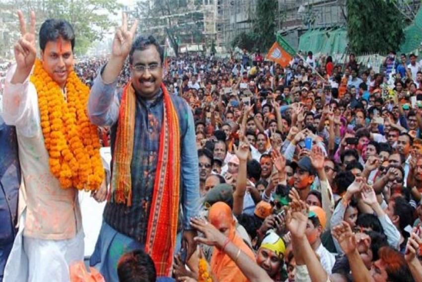 From Zero In 2013 To 43 Seats 2018, How Did BJP+ Overthrow Manik's 'Sarkar' In Tripura