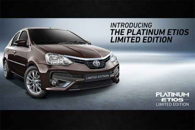 Toyota Launches Etios Platinum Limited Edition At Rs 7.84 Lakh