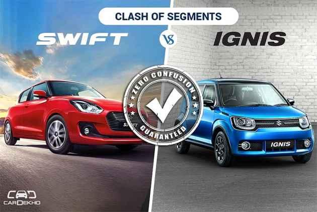 Clash Of Segments: Maruti Swift 2018 vs Maruti Ignis - Which