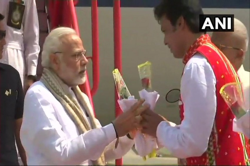 Tripura Goes Saffron: From 100-Feet Stage For Oath-Taking Ceremony To Giant Posters Of PM Modi, Amit Shah