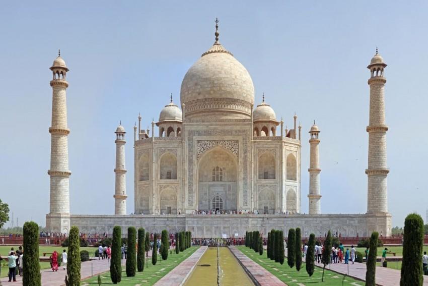 Taj Mahal Pillar Falls After Heavy Rains Hit Agra