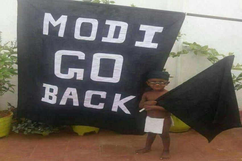 Narendra Modi In Chennai: #GoBackModi Trending On Twitter, Black Flags Raised On The Streets
