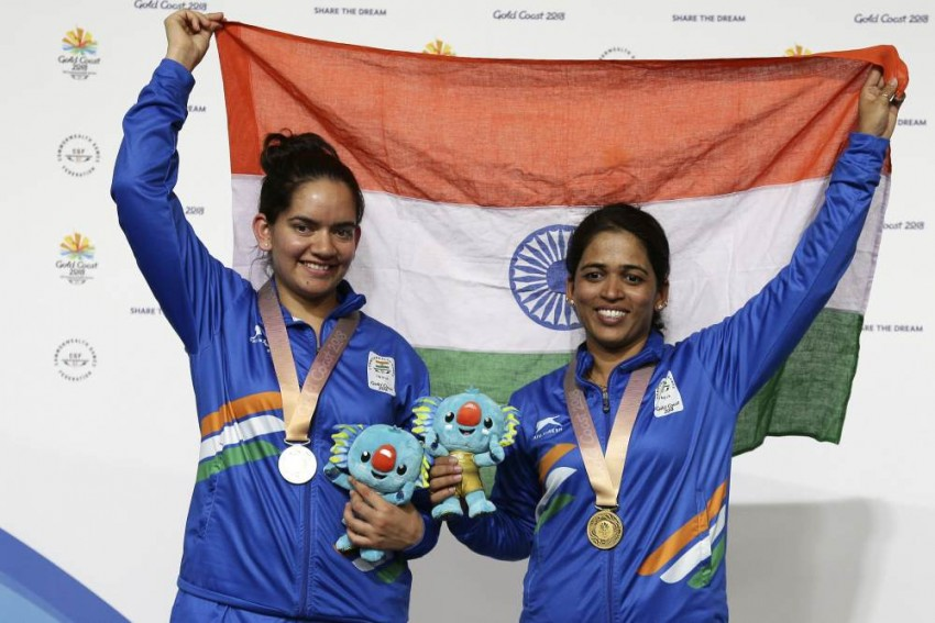 CWG 2018: Shooter Tejaswini Shatters Games Record To Win Gold, Moudgil Bags Silver