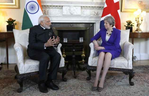 Modi Meets Theresa May For Bilateral Talks On Immigration, Counter-Terrorism