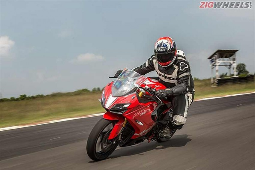 Sportier TVS Apache RR 310 on the cards