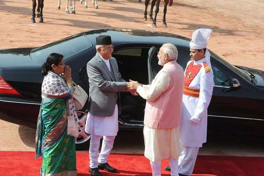 PM Modi Holds Talks With Nepalese Counterpart KP Oli