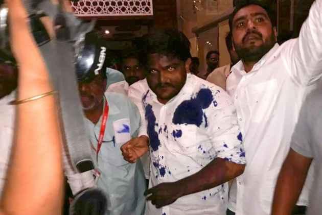 Ink Thrown At Patidar Leader Hardik Patel In Ujjain Ahead Of Rally In BJP Turf