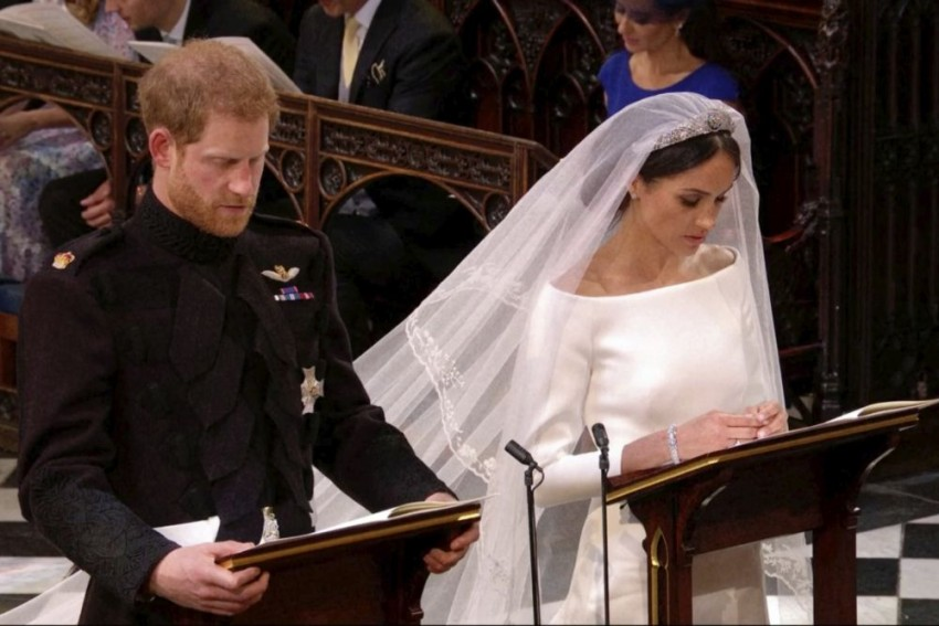 Britain's Prince Harry, Actress Meghan Markle, Are Now Husband And Wife