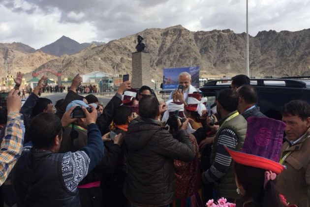 PM Modi Reaches Jammu & Kashmir On Day-Long Visit