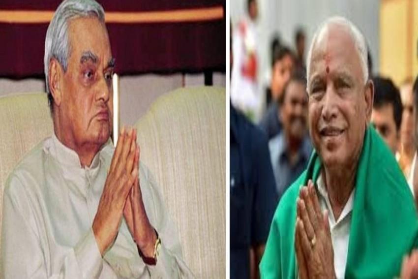 BS Yeddyurappa Does An Atal Bihari Vajpayee, Here's What Happened 22 Years Ago