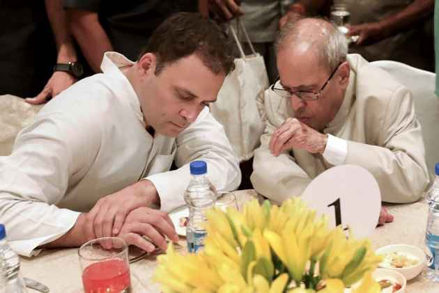 At His First Iftar As Congress President, Rahul Shares Table With Pranab Mukherjee, Takes Dig At PM Fitness Video