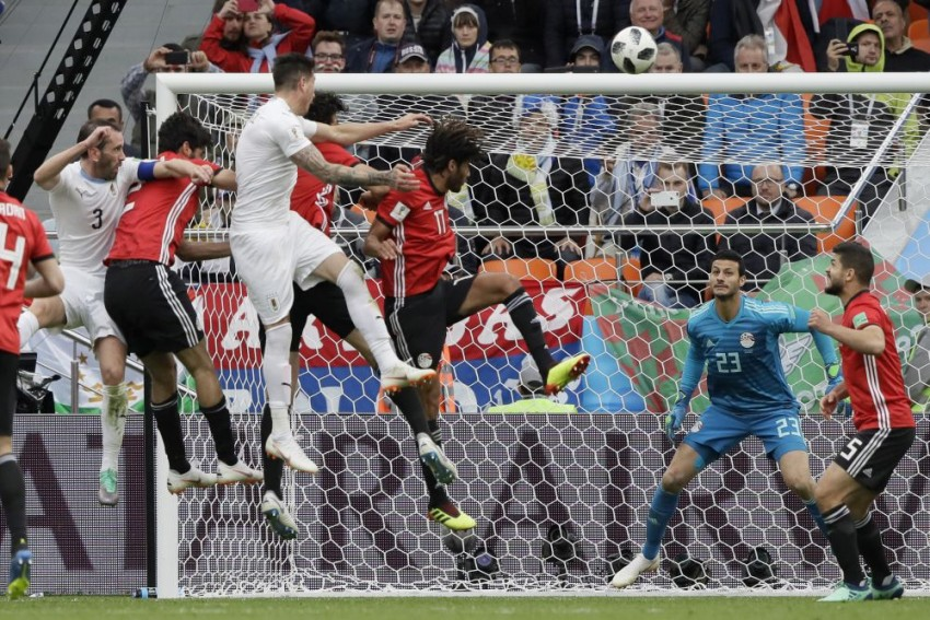 Jose Gimenez's 89th-Minute Strike Helps Uruguay Beat Egypt As Salah Sits Out Of Match