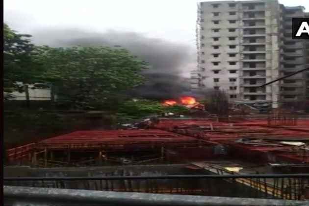 Private Aircraft Crashes At Mumbai's Under-Construction Site