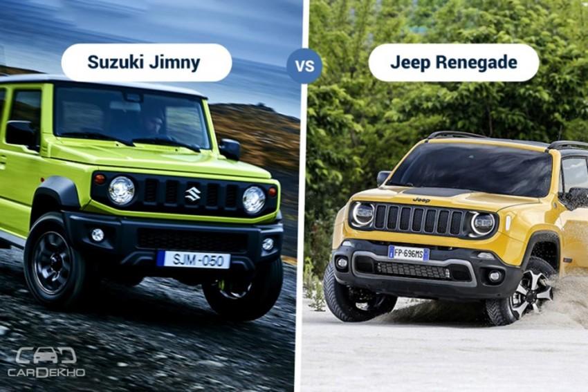 2018 Suzuki Jimny Vs Jeep Renegade: Specifications & Features Comparison