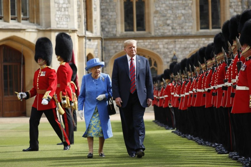 Trump Breaks Royal Protocol In First Meeting With The Queen