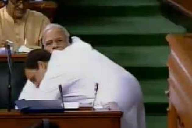 With A Hug To PM Modi, Rahul Gandhi Has Put BJP On The Back Foot