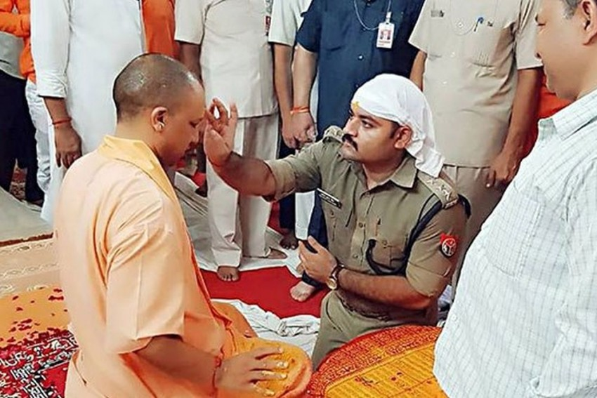 It Was My Devotion To Mahant Yogi Adityanath, Says Cop Who Knelt Down Before UP CM
