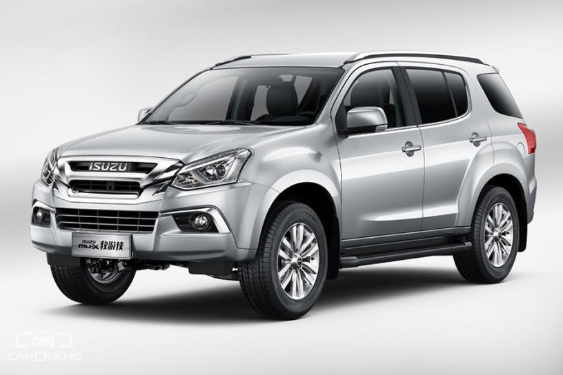 Isuzu mu-X Facelift Spied In India For The First Time