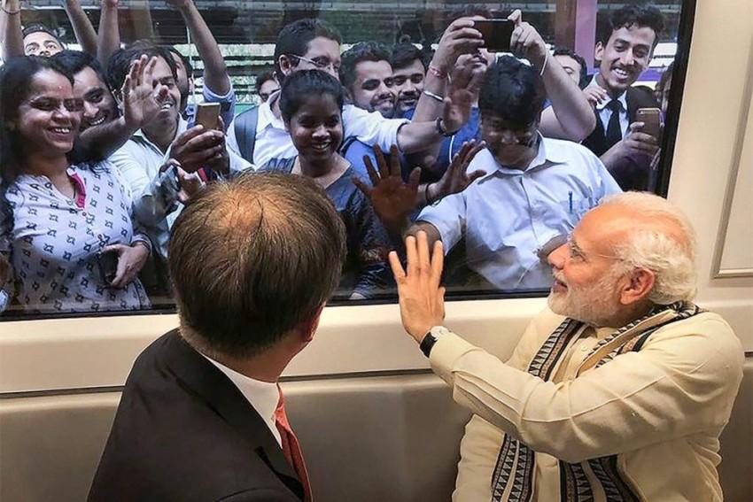 PM Modi, South Korean President Take Metro Ride To Noida, Share Pictures
