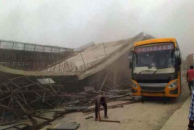 Under-Construction Flyover Collapses On UP Highway, Labourer Injured