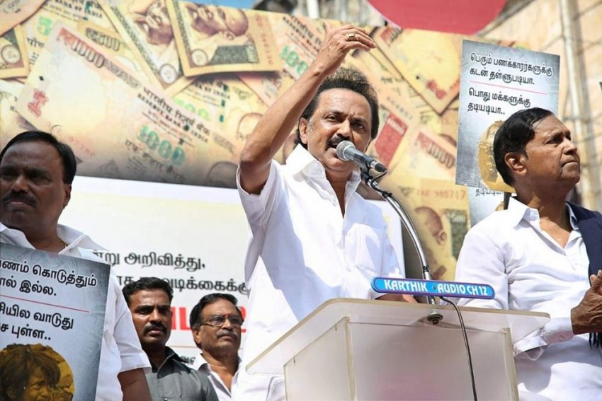 'I Pleaded With CM To Allot Burial Space For <em>Thalaivar</em> At Marina', Says M K Stalin