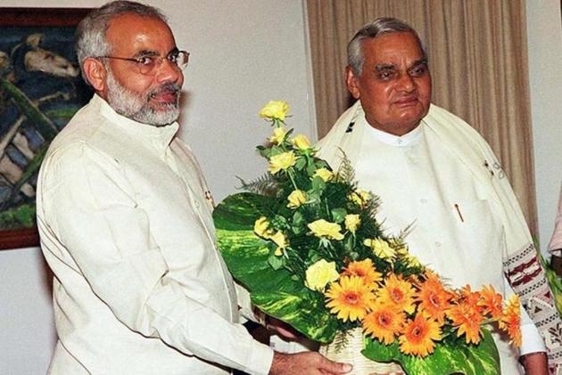 Image result for narendra modi and atal bihari vajpayee