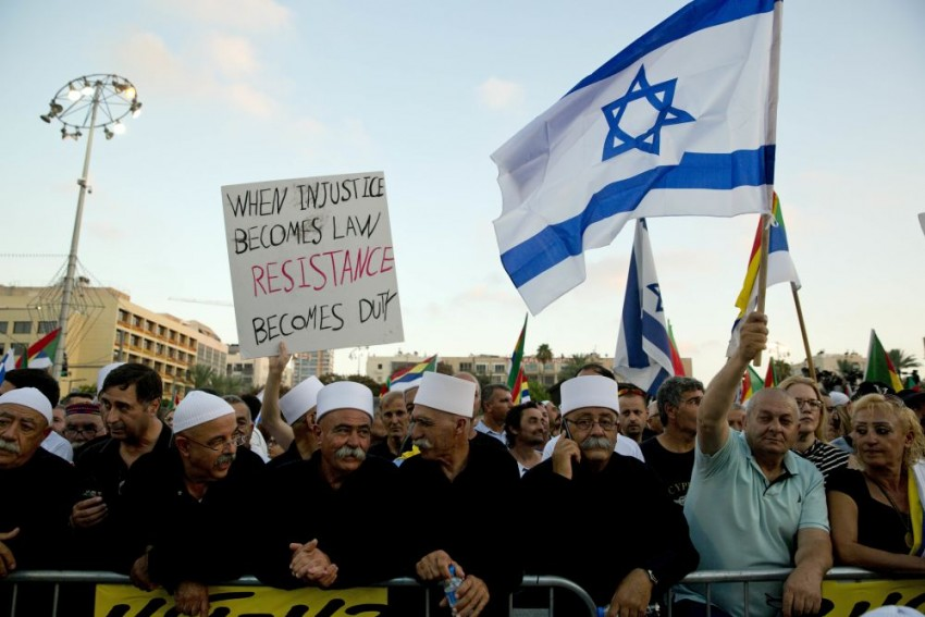 Benjamin Netanyahu Continues To Defend Controversial Law As Minorities Protest In Israel