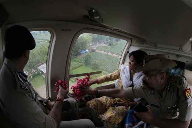 Watch: UP Cop Showers Rose Petals From Chopper On Kanwarias